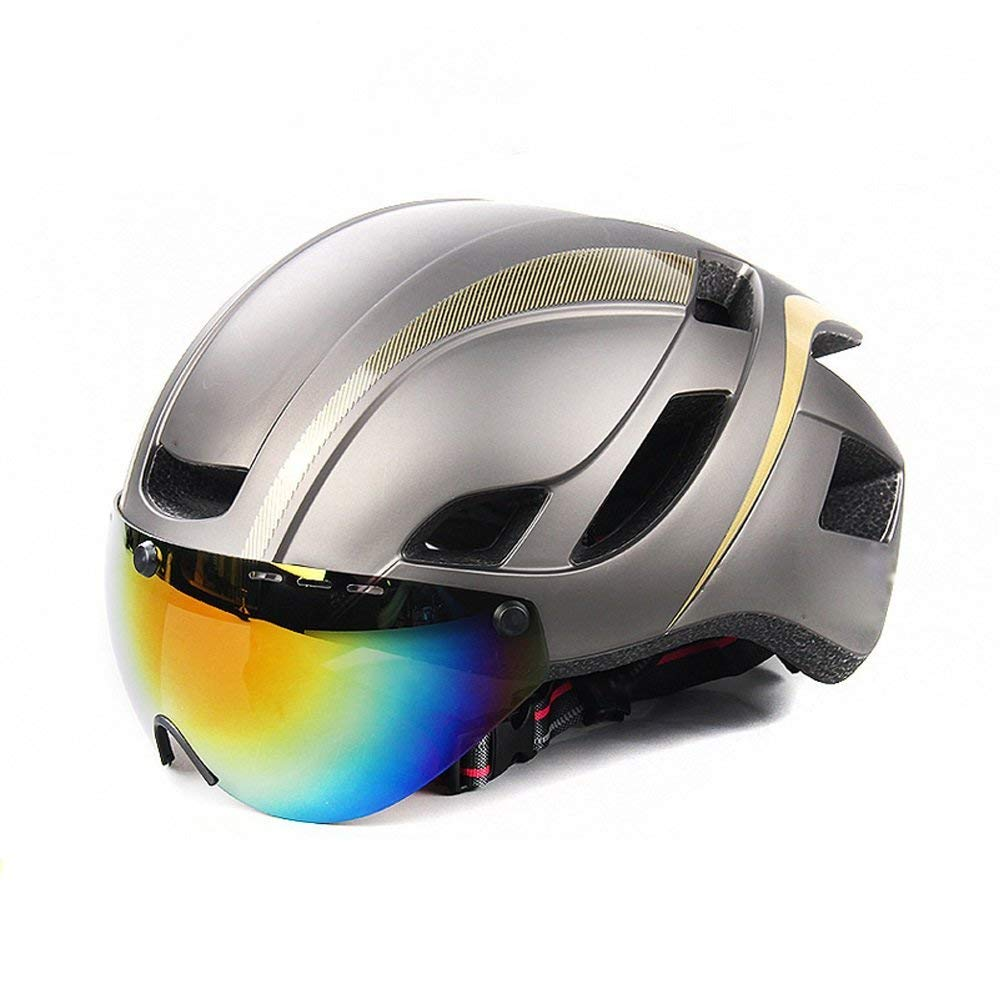 AsDlg 取り外し可能な磁気ゴーグル付き自転車用自転車ヘルメット、メガネ内蔵低風防、合理化されたマウンテンバイク、自転車用品、安全帽子 B07KKGRG7K