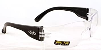 Global Vision Clear E.V.A lined wraparound shooting glasses complete with free microfibre storage pouch