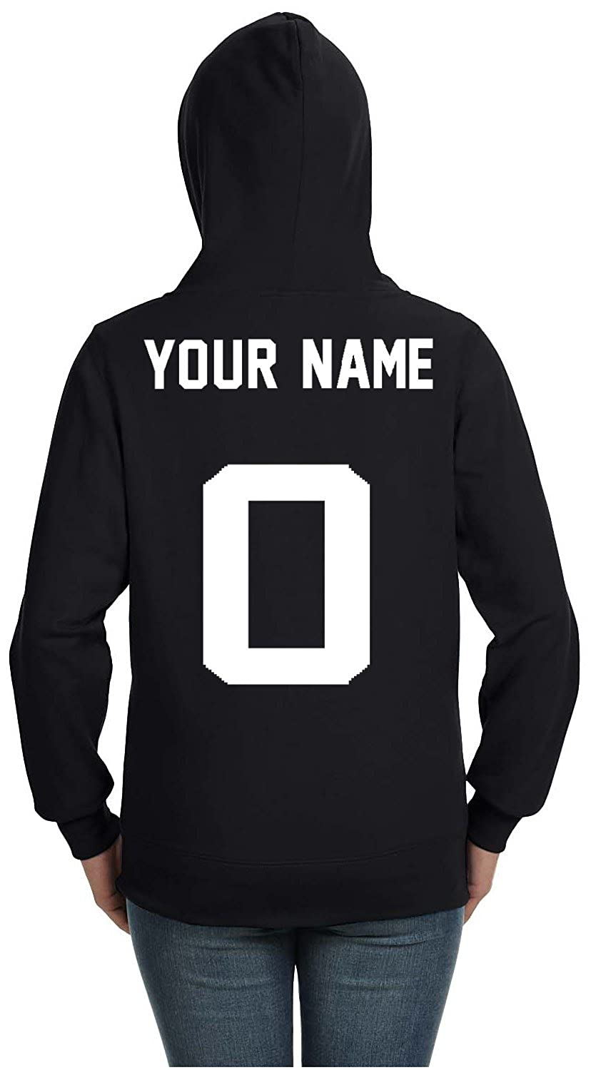 Amazon.com  YM Wear Add Your Own Custom Text Name or Message on Your  Personalized Hoodie Women s  Clothing b7dac6be3e