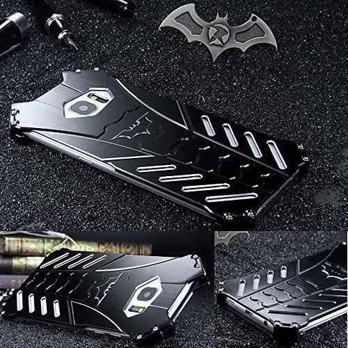 GOODKSSOP LUXURY Batman Style Shockproof Aluminum Bumper Skin Metal Back Case Cover For Samsung Galaxy S7 edge (For Samsung Galaxy S7 edge)