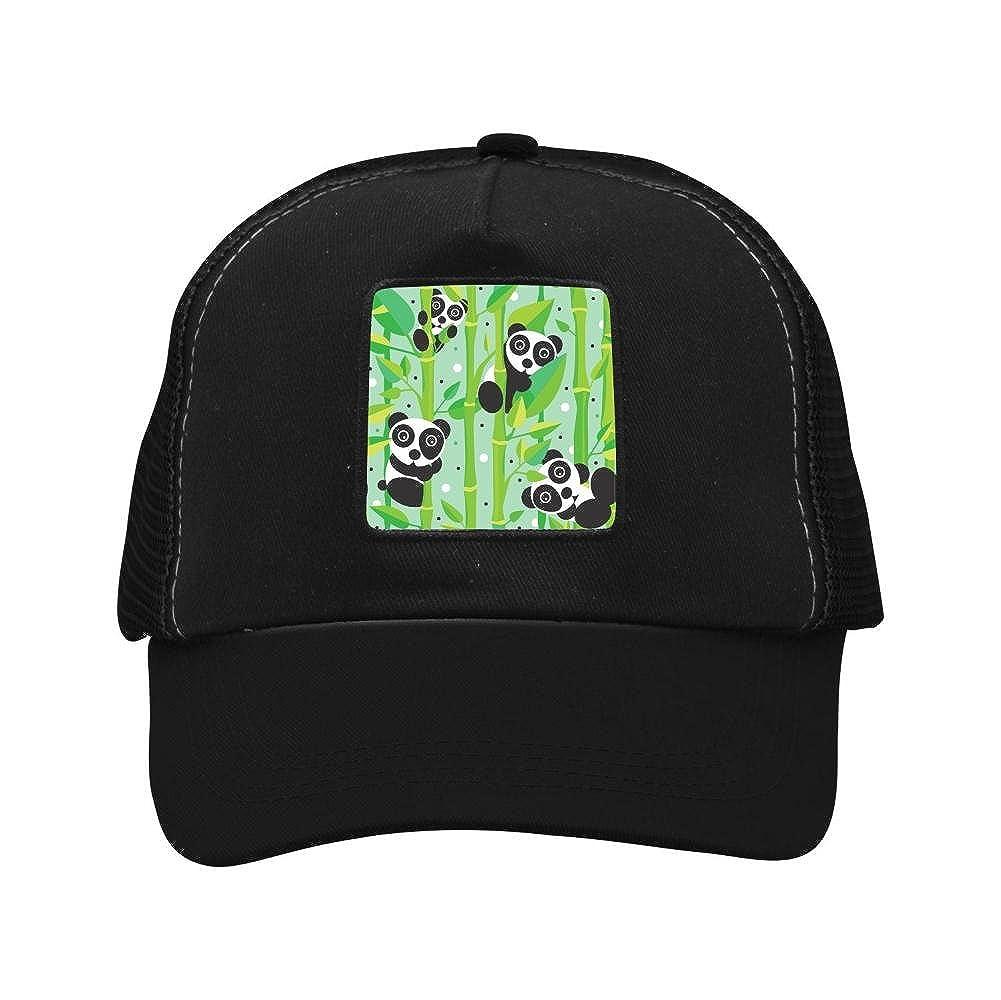 Nichildshoes hat Adult Mesh Caps Hats Adjustable for Men Women Unisex,Print Panda