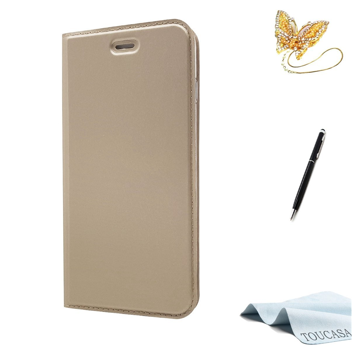 iPhone 8 Plus Handyhü lle, iPhone 7 Plus Hü lle, TOUCASA Brieftasche flip Versteckte Magnetische 0.2cm Super dü nn 33g Ultraleicht 360 stoß fest mit Lebenszeitgarantie fü r iPhone 8 Plus/iPhone 7 Plus(Blau) DD2018731qi30013
