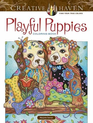 Coloring Books for Seniors: Including Books for Dementia and Alzheimers - Creative Haven Playful Puppies Coloring Book (Adult Coloring)