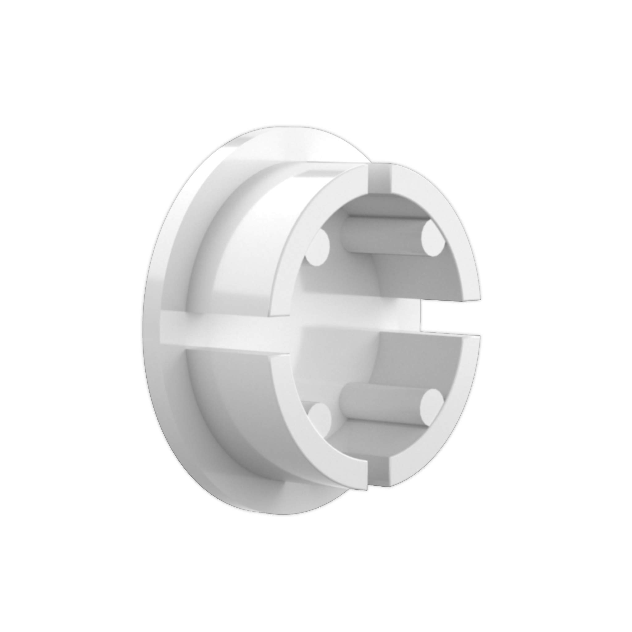 FORMUFIT F114IDC-WH-10 PVC Internal Domed End Cap, Furniture Grade, 1-1/4'' Size, White (Pack of 10) by FORMUFIT (Image #2)