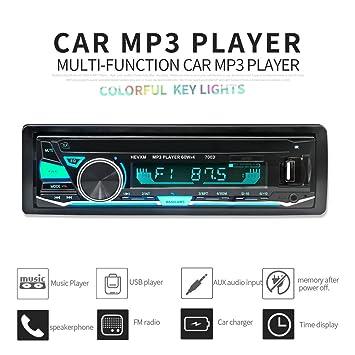 Boomboost 12V 7003 Recién llegado de Bluetooth en el coche Auto Automagnitol Radio Cassette Recorder One Din Reproductor de audio estéreo: Amazon.es: Coche ...