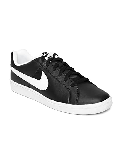 22aa45536ace04 Nike Men Black Court Royale NSW Leather Casual Shoes (6UK)  Buy ...