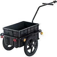 HOMCOM–Remolque para Bicicleta, Color Negro