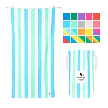 Dock & Bay Sand Free Beach Towels - Endless Days, Extra Large (200x90cm, 78x35) - Sand Proof Beach Towel for Adults