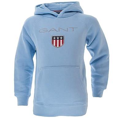info för populära butiker Kolla på Gant Boys 906652 Regular Fit Hooded Long Sleeve Sports Hoodie ...