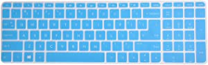 Leze - Ultra Thin Silicone Keyboard Cover Skin Protector for 15.6 Inch HP Envy X360 m6-w,Envy m7-n,m7-u,Pavilion 15-ab 15-ac 15-af 15-as 15-au 15-ay 15-ak 15t-ae 15-ba 15-bc Semi - Blue