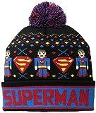 Superman Men's Kid's Intarsia Fair Isle Pom Knit Warm Winter Beanie