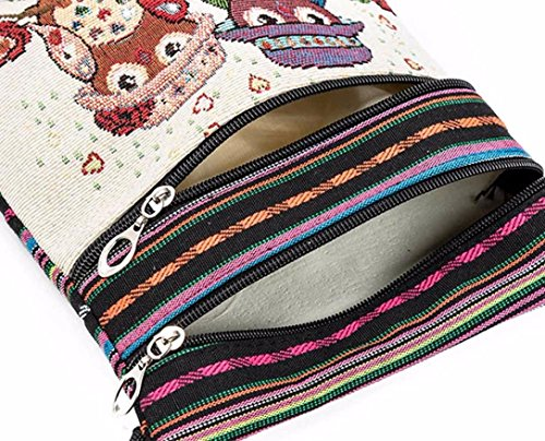 Mujeres de de Bordados D Las Bolsos BúHo Del Del Paquete Bolso Bolsos Del Hombro Logobeing Cartero qz5PZ0wP