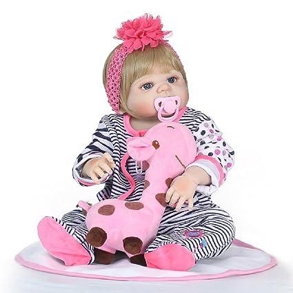 Amazon.com: NPKDOLL Rebron Muñeca de bebé de 21.7 in de ...