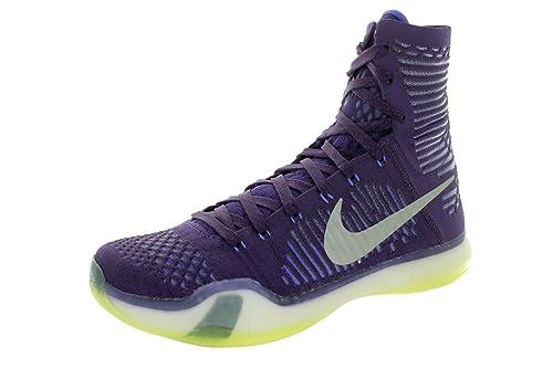 Nike Kobe X Elite Basketball Shoes Size 10.5 (2015)--Purple/Silver-Volt