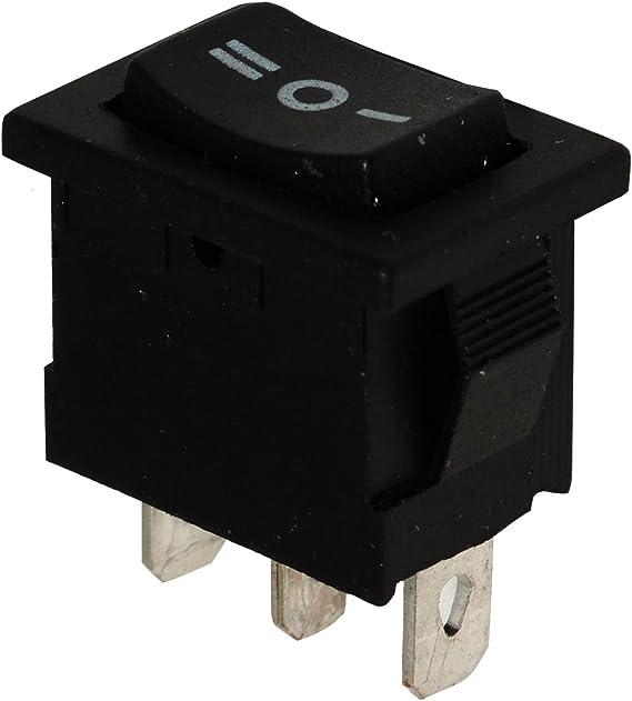 1 posici/ón ON AERZETIX: 5x Interruptor conmutador basculantes de bot/ón SPDT ON- 10A//250V 16A//12V Negro C10754