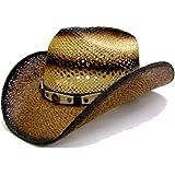 5d987c0d6d4a1 Modestone Unisex Straw Sombrero Vaquero Rodeo Cowboy on Bronco Horse ...
