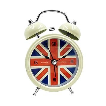 2.5u0026quot; Small Loud Alarm Clock Hippih Non Ticking Quartz Analog Vintage  Old Fashioned Desk