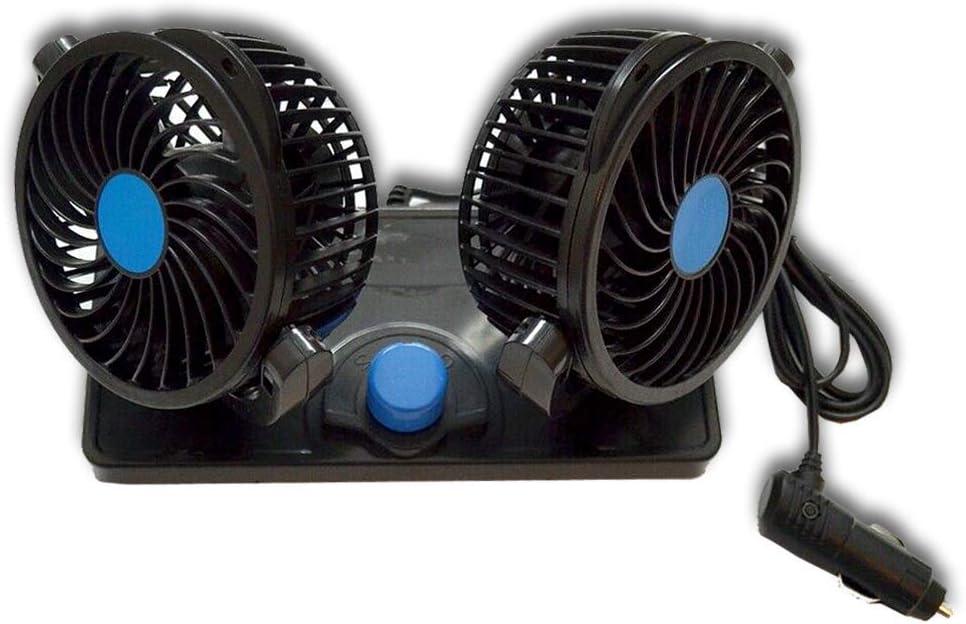 Ventilador doble de 12 V, 360 grados para furgoneta, camión ...