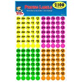 Garage Sale Pup Preprinted Pricing Labels, Bright Neon Multicolored: Yellow/Pink/Green/Orange, Pack of 2100