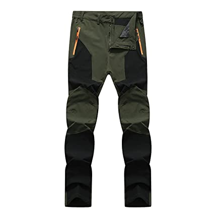Clothing 7VSTOHS Waterproof Hiking Trousers Mens Fast Dry Trekking Climbing Trousers Breathable Lightweight Outdoor Sports Walking Pants