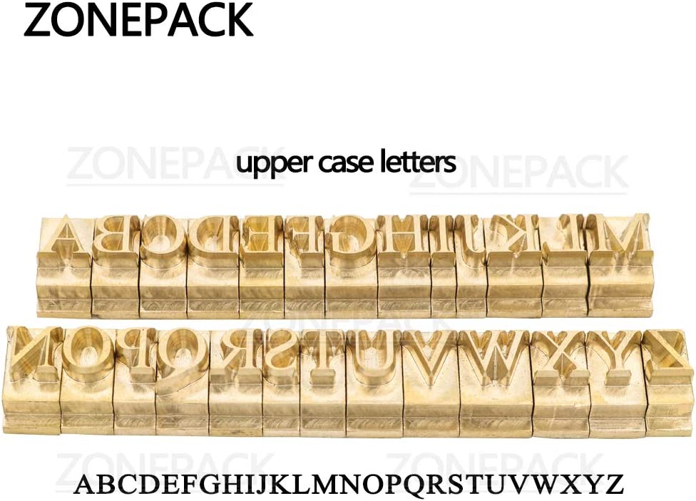 Letter Holder 10cm T-Slot Positioning Plate DIY for Hot Foil Stamping Machine ZONEPACK Copper Brass Stamping Flexible Alphabet Number Symbol Character Stamp Mold Die