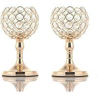 VINCIGANT Portavelas de Oro Candelabros de Cristal