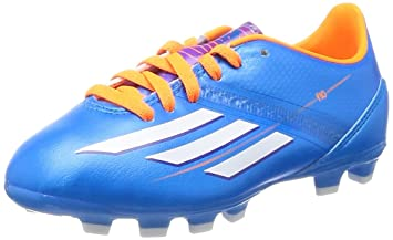 21d401ff085 Kids Adidas F10 TRX HG Moulded Studs Blue White Football Soccer Boots (UK 1)