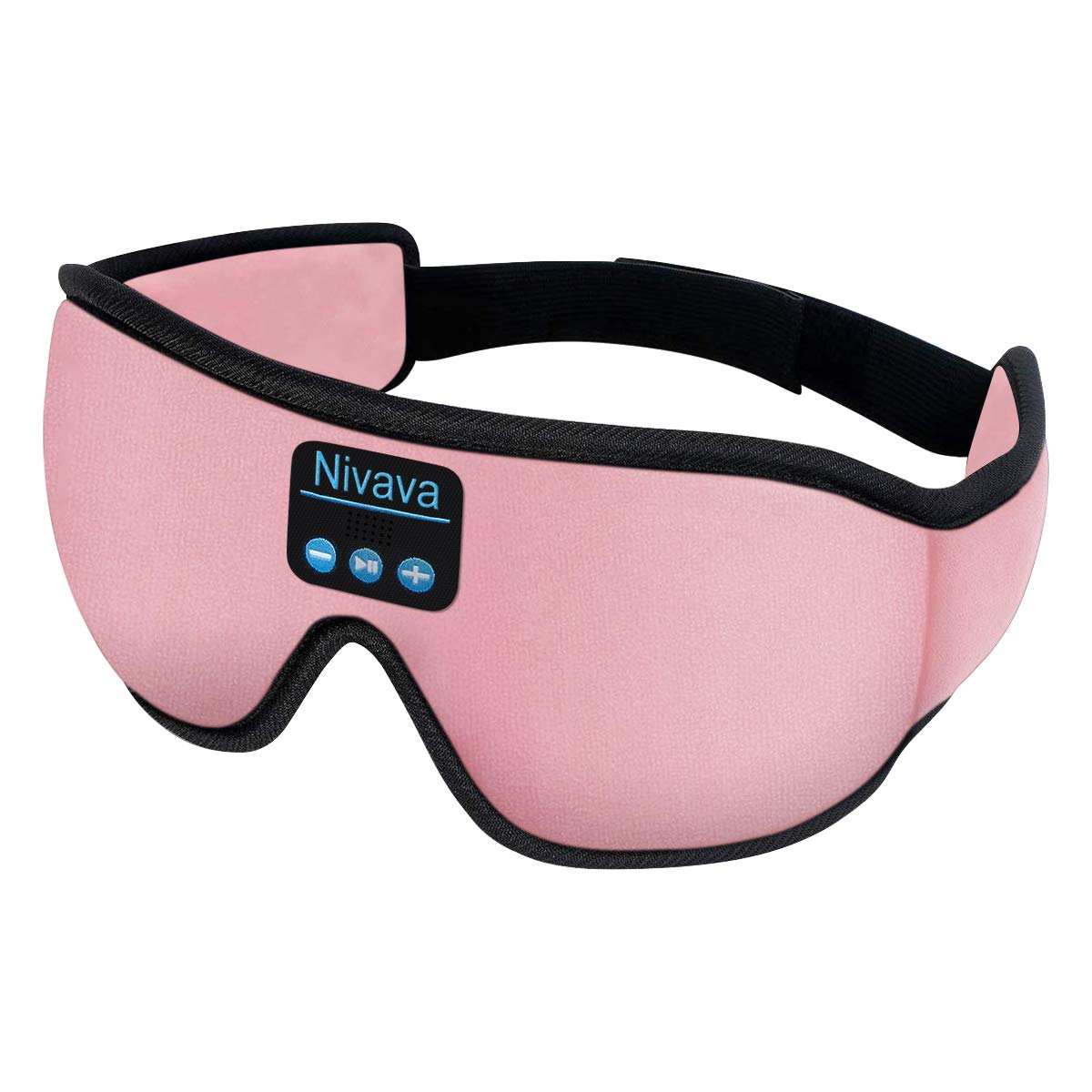 Nivava S8 Sleeping Headphones Bluetooth 5.0 Wireless 3D Eye Mask for Side Sleepers Washable Adjustable Perfect for Traveling Pink