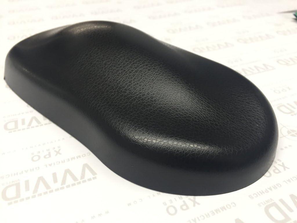 VViViD 6ft x 5ft Fine Grain Black Leather Vinyl Wrap Contact Paper Soft Touch
