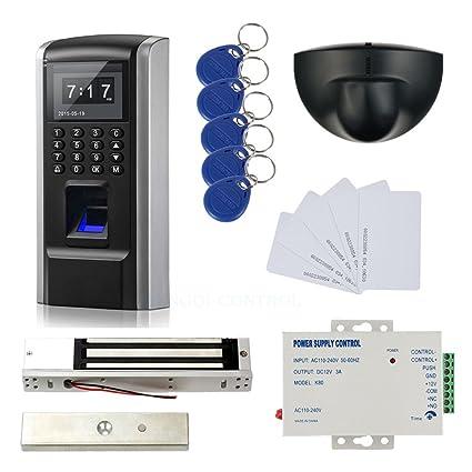Bio Sensor de movimiento de la huella digital y sistema de control de RFID + Entrada