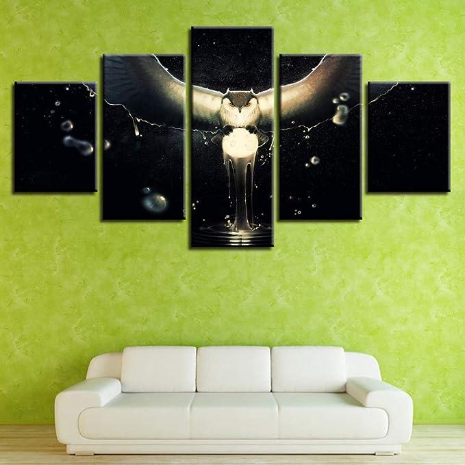adgkitb canvas Obras de Arte del búho para la decoración de ...