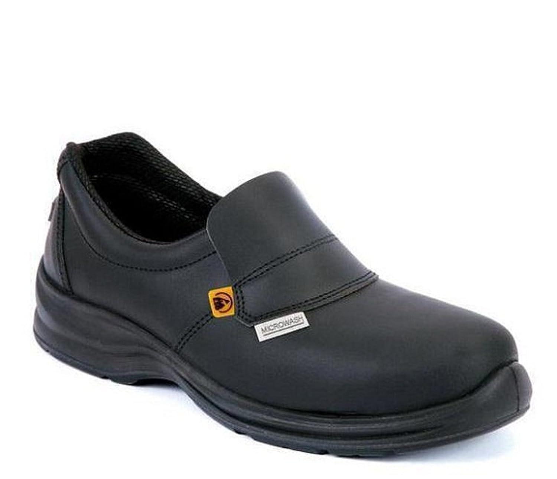 laforst Jess 3112 Womens Work Slip Resistant Flat Slip On Shoes B07CJ421TR 9.5 B(M) US|メタル メタル 9.5 B(M) US