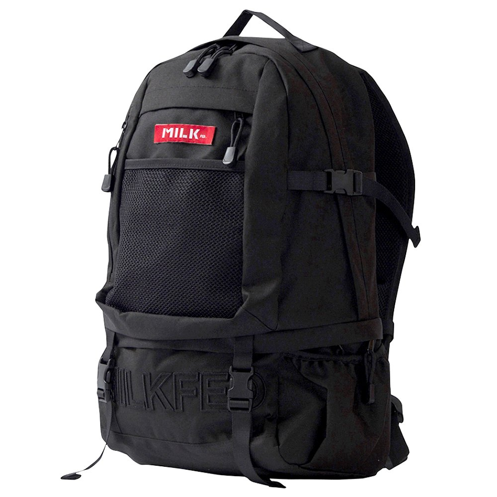 MILKFED embroidery big backpack バックパック リュックサック レディース 通学 カジュアル Free レッド B077YYZ2QW