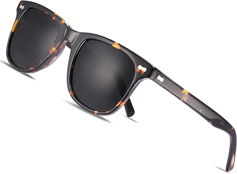 Carfia Gafas de Sol Polarizadas de Estilo Retro Metal de UV400 Protección para Deporte y Aire Libre Ciclismo Golf