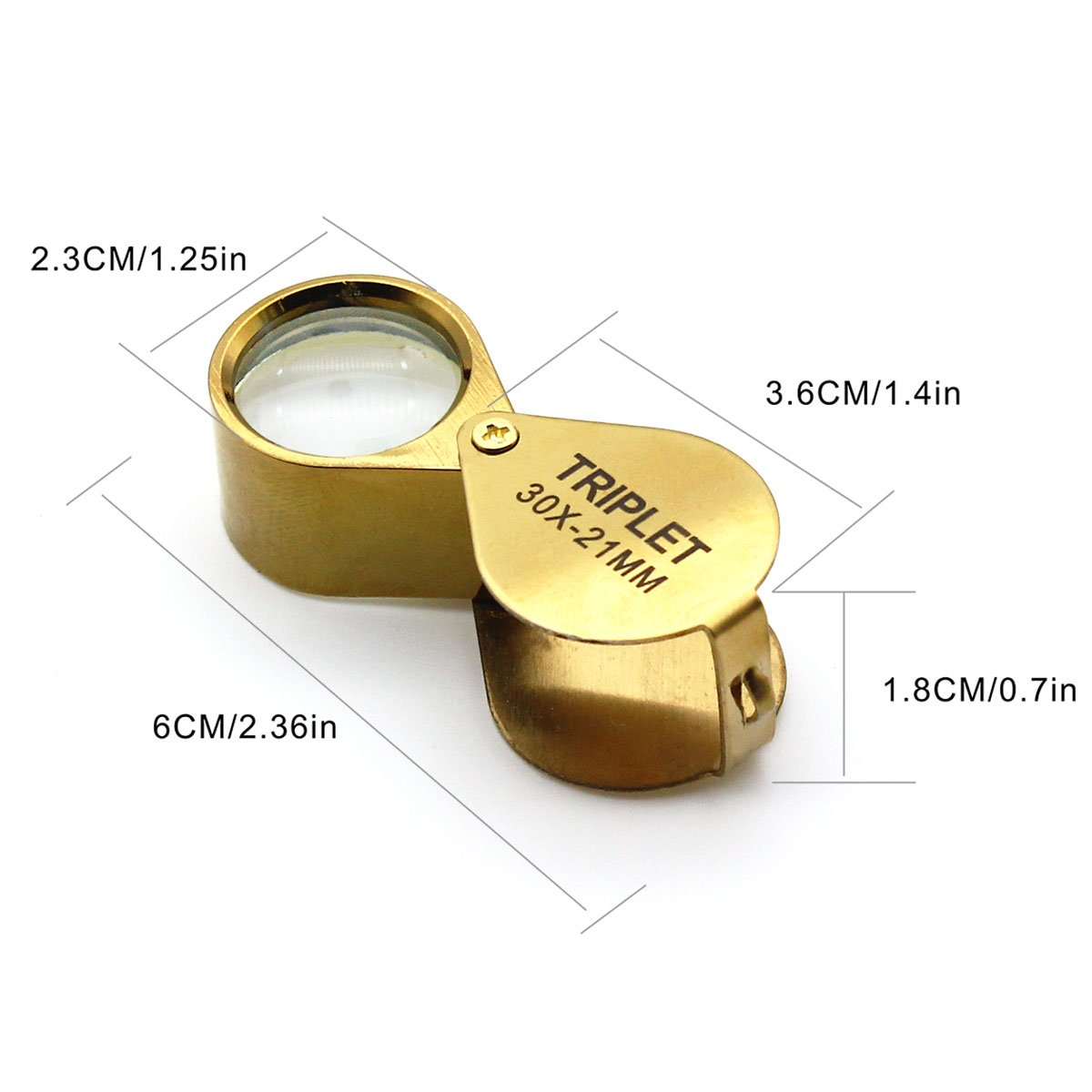 Increase Vision QiCheng/&LYS 1-3//4 Inch Optical Magnifier Lens and 36-Inch Gold Chain for Library Zooming Reading Fine Print