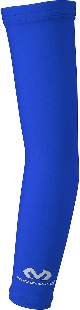 McDavid Compression Arm Sleeve, 50+ UV Skin Protection, Cooling Arm Sleeve for Sports, Running, Basketball, Baseball, Football: Sports & Outdoors