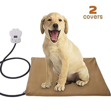 Qomolo Manta Eléctrica para Perros y Gatos, 30W Almohadilla de Calefacción para Mascotas para Cama