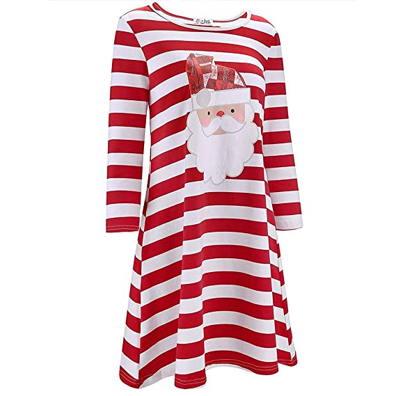 Christmas Series Dress-Women Santa Claus Print Long Sleeve Casual Evening Party Mini Dress at Amazon Womens Clothing store: