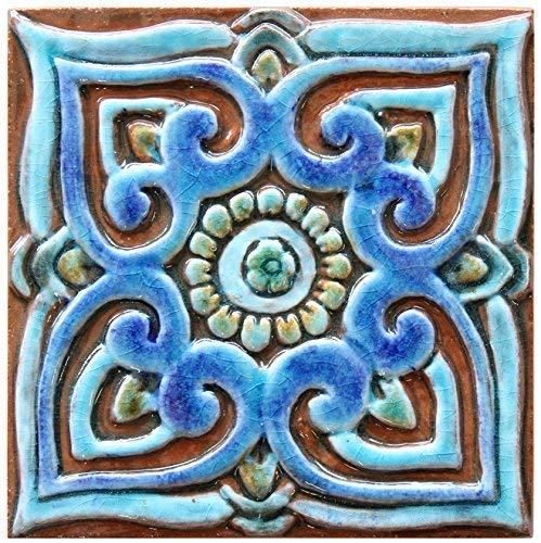 Amazon Com Wall Art Ceramic Tile 5 9 Decorative Mandala Tile In