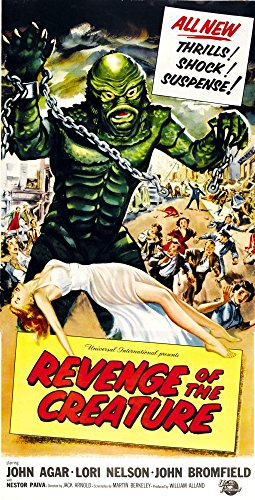 Vindictiveness Of The Creature As 'The Gill Man': Tom Hennesy (On Land) Ricou Browning (Underwater); Bottom: Lori Nelson On 3-Sheet Poster Art By Reynold Brown 1955. Film Poster Masterprint (11 x 17)