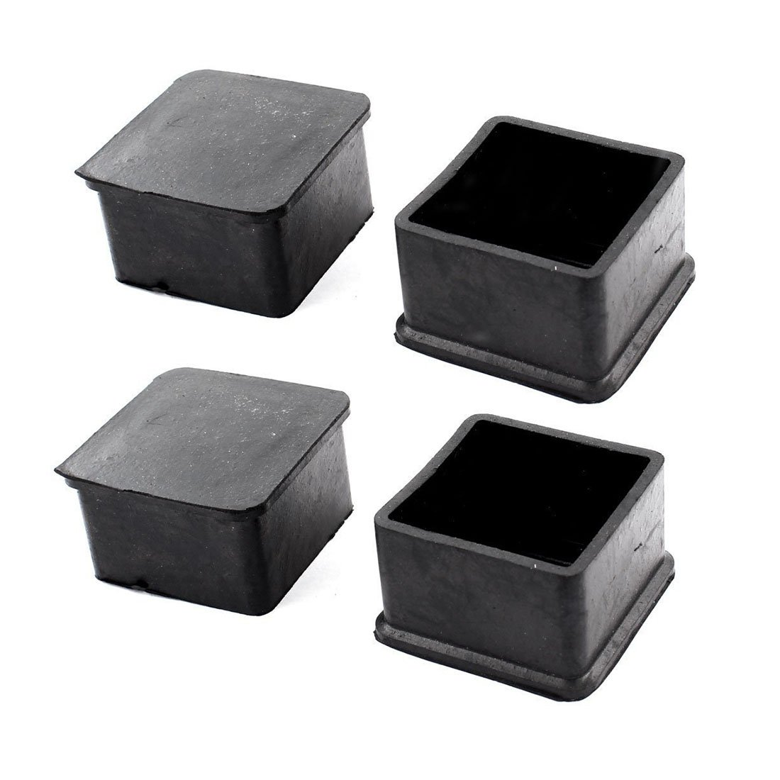 Flyshop Chair Leg Caps Furniture Table Covers Floor Protectors Non-Slip Rubber Square Legs 4 Pack,50mm,2 inch