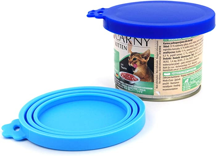 Comtim Pet Food Can Lids, Silicone Can Lids Covers for Dog and Cat Food, Universal Size Fits All Standard Size Dog and Cat Can Tops