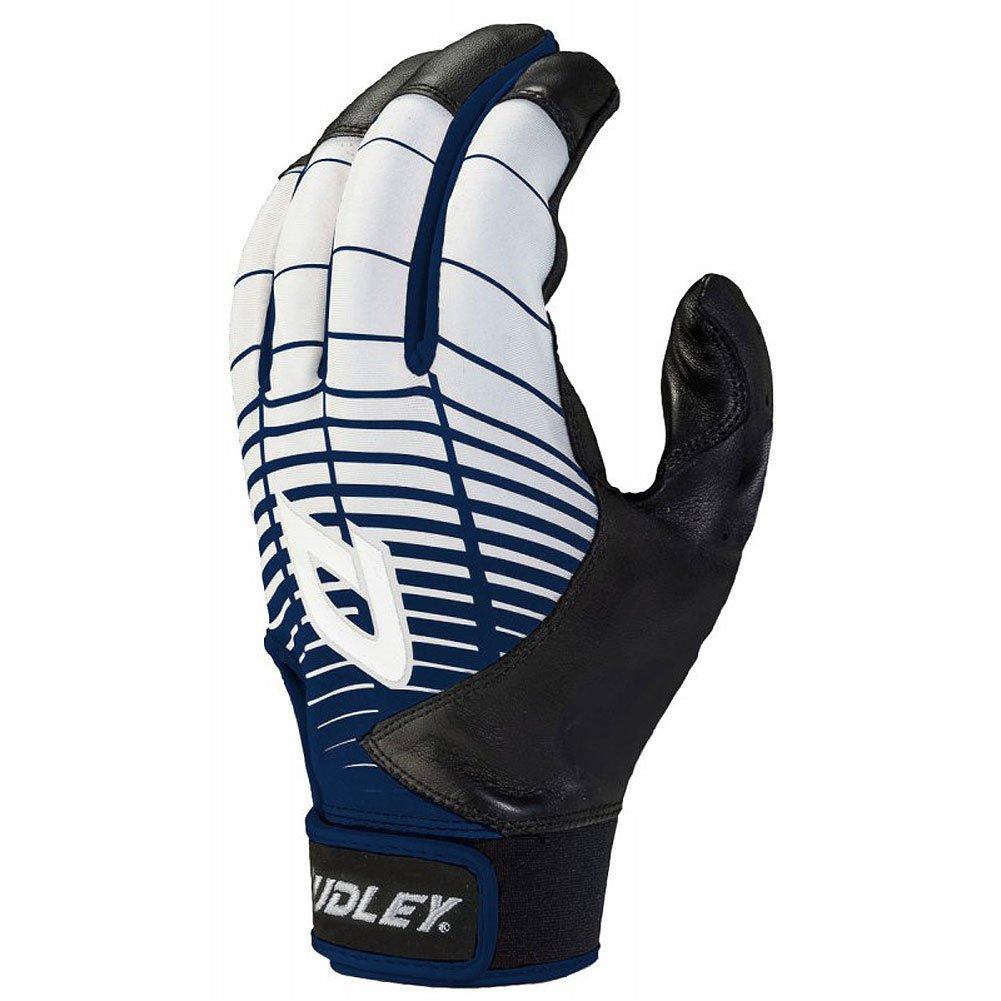Dudley Thunderシリーズ大人用野球/ソフトボールバッティング手袋 B01NBELKVBブラック/ネイビー Large