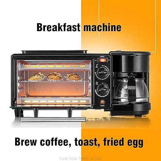 XUE 3 en 1 Desayuno Inicio cafetera máquina eléctrica Horno ...
