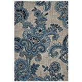 Safavieh Allure Collection ALR310B Handmade Grey and Blue Premium Wool Area Rug (5' x 8')