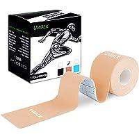 Uwalk - Cinta de kinesiología, cinta elástica terapéutica deportiva de algodón sin cortar, ideal para alivio del dolor, apoyo muscular y recuperación de lesiones, impermeable, transpirable, sin látex