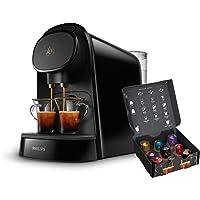 Philips L'OR LM8012/60 Barista - Cafetera compatible con cápsula individual/doble, 19 bares presión, depósito 1L, color…