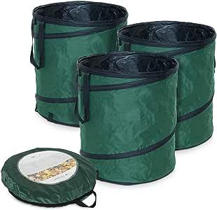 Navaris Sacos de jardín desplegables - Contenedores Plegables para desechos de jardín con Capacidad para 160L - Set de 3: Amazon.es: Jardín