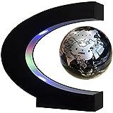 Easy Eagle Mappamondo Magnetico 3 Pollici, Globo Fluttuante Levitazione Elettronico con RGB Luce LED per Decorazione Della Casa Ufficio Regali d'affari Studente Educazione - Nero