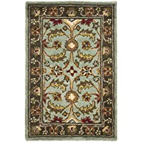 Safavieh Heritage Collection HG962A Handcrafted Traditional Oriental Blue and Brown Wool Area Rug (2 x 3)